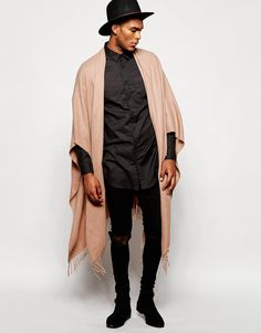 Image 1 of ASOS Camel Woven Cape