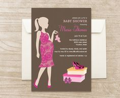 Stylish Pregnant MomtoBe and Shoe Theme by CraftCoutureStudios