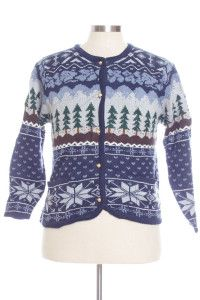 Blue Ugly Christmas Cardigan 29097