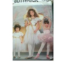 Amazon.com: GIRLS COSTUMES SIZE 4-5-6-7-8-10-12-14 DRESS, PANTIES, WINGS & WAND BUTTERICK PATTERN 4197: Arts, Crafts & Sewing