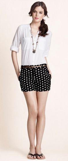 Those polka dot shorts will be mine, Ann Taylor Loft