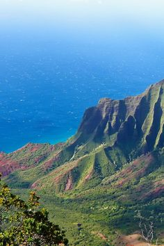 Kalalau Valley, on the Napali Coast of Kauai, Hawaii