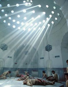 Turkish baths in Istanbul. One of the best and most relaxing experiences ever.
