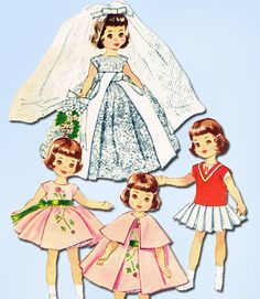 Excited to share the latest addition to my #etsy shop: 1950s Original Vintage McCalls Pattern 2323 Uncut 8in Betsy McCall Doll Clothes http://etsy.me/2GFMnQd #supplies #dollmaking #vintagepattern #sewingpatterns #dollpatterns #1950spattern #dollclothespattern #vintage