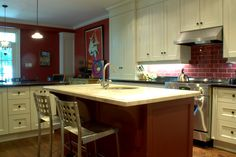 A gourmet kitchen done in Brick Red