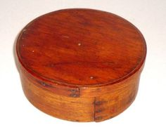 """AAFA Small 6 1 2"""" Size 1800's Natural New England Bentwood Pantry Box with Lid"""