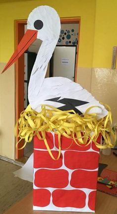Storks nest - New Deko Sites Fall Preschool, Preschool Crafts, Easter Crafts, Diy And Crafts, Crafts For Kids, Arts And Crafts, Art Drawings For Kids, Art For Kids, Pop Up Flower Cards