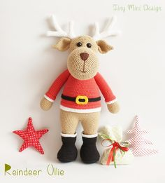 Amigurumi Ren Geyiği Ollie- Amigurumi Reindeer Ollie | Tiny Mini Design