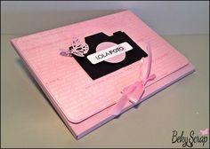Beky Scrap: Photo Box (caja para entregar fotos sueltas) de cartulina para LOLA·Foto