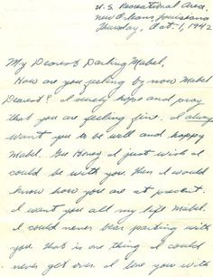 Don't Burn Your Family Letters When You Declutter. Letter from George Miller to Mabel Poth, 1 October Genealogy Center, Allen County Public Library. Book Journal, Journal Ideas, Journals, Bullet Journal, Letter Writer, Handwritten Letters, Cursive, Old Letters, Vintage Paper
