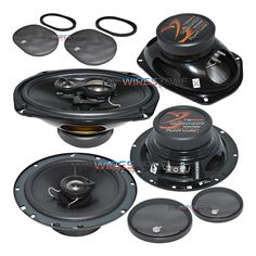 """Planet Audio TQ622 & TQ693 Anarchy Series 3-Way & 2-Way 540 Watt 6-1/2"""" & 6"""" x 9"""" Coaxial Car Speaker (2 pairs). 6-1/2"""" Speaker Product Details: Power Handling (Peak): 120 Watt Power Handling (RMS): 60 Watt Rubber surround Custom tooled grille Aluminum Voice Coil Former Top-mount depth: 2-5/16"""" 6-1/2"""" Anarchy Series 2-Way Car Speakers Glossy black poly-injection cone 1"""" Aluminized mylar cone tweeter 4 ohms impedance 15 oz Magnet structure 6"""" x 9"""" Speaker Product Details: Power Handling..."""