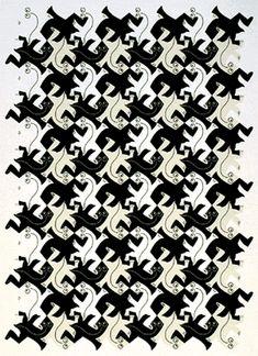 Afbeeldingsresultaat voor M. Mc Escher Art, Escher Kunst, Escher Drawings, Art Drawings, Art Optical, Optical Illusions, Op Art, Escher Tessellations, Tesselations