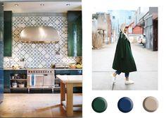New fresh and beautiful fall winter interior colour palettes inspired by fashion - ITALIANBARK interior design blog #colours #colourtrend #pantone2017 #homedecortrends #green #forestgreen #greeninteriortrend
