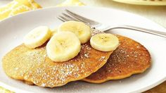 Looking for a breakfast recipe using Bisquick® Gluten Free mix? Then make these tasty pancakes made with banana and peanut butter.