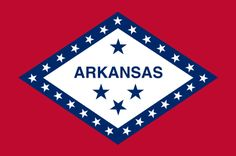 """Illustration: Arkansas state flag. Credit: Wikimedia Commons. Read more on the GenealogyBank blog: """"Arkansas Archives: 86 Newspapers for Genealogy Research."""" https://blog.genealogybank.com/arkansas-archives-86-newspapers-for-genealogy-research.html"""