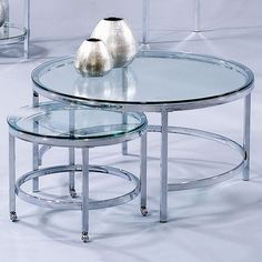 I pinned this Patinoire Nested Coffee Table from the Bassett Mirror Co. event at Joss and Main!