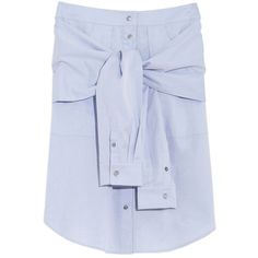 T by Alexander Wang Tie-Front Skirt (2.085 DKK) ❤ liked on Polyvore featuring skirts, blue, t by alexander wang skirt, tie front skirt, t by alexander wang, tie skirt and blue skirt
