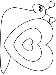 Print coloring page and book Heartbutterfly Valentines Coloring