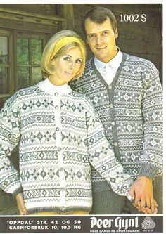 Oppdal Norwegian Knitting, Christmas Sweaters, Knitting Patterns, Diy And Crafts, Retro, Crochet, Cardigans, Inspiration, Vintage