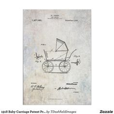 1918 Baby Carriage Patent Print Poster
