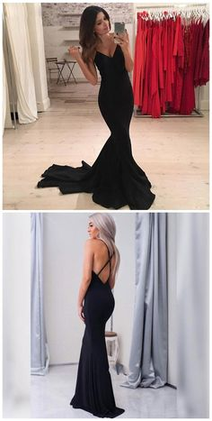 Prom Dresses, Formal Prom Dress,Sexy Black Prom Dress, Mermaid Prom Dress by comigodress, $135.29 USD