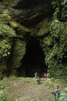 Entrance of Maniharan cave, Silchar, Kachar. The cave and the surroundings are sacred to Hindu religion since ancient time
