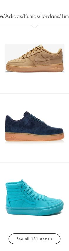 """❌Nike/Adidas/Pumas/Jordans/Timbs❌"" by boss-baby ❤ liked on Polyvore featuring shoes, sneakers, nike, trainers, nike sneakers, navy blue suede shoes, suede trainers, navy shoes, suede leather shoes and sandals"