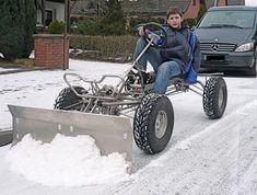 Snow Shovel With Wheels, Diy Go Kart, Drift Trike, Engin, Snow Plow, Cargo Bike, Pedal Cars, Bike Frame, Bike Design
