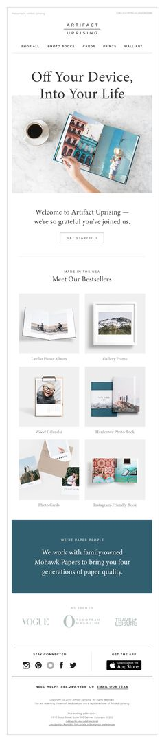 Pretty light email from @artifactuprsng