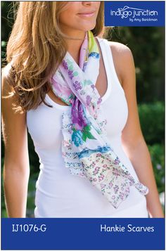 Hankie Scarves e-Pattern image from Indygo Junction