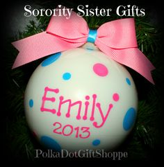 7f1d8db59b11 Sorority Sister Gifts in your Sorority Color Combinations! Christmas  Ornaments To Make