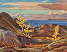 """Evening, Great Bear Lake,"" Alexander Young Jackson, 1959, oil on panel, 10.75 x 13.5"", private collection."