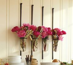 Love these wall vases from Pottery Barn