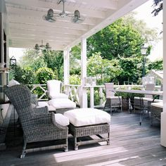 Substantial shade, but not all of the deck is covered. Which I like!