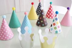 Cute DIY Party Hat Set (Set of 11) - Party Decorations - Party Supplies