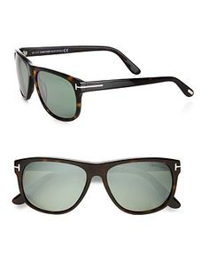 Tom Ford Eyewear - Plastic Wayfarer Sunglasses - Saks.com Tom Ford Eyewear, Tom Ford Sunglasses, Summer Sunglasses, Wayfarer Sunglasses, Men's Eyewear, Men's Toms, Mens Glasses, Eyeglasses, Eye Candy