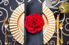 """Classic Spanish glamour is embodied in this elegant wedding inspiration shoot from Ashley Gerrity Photography. The Philadelphia team, with design led by Aribella Events, was inspired by the allure of the Spanish Rose. Fabulous, affordable rental table linens by Gala Cloths. See everything at """"Every Last Detail"""" http://theeld.com/2e3PN33."""
