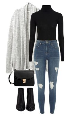 """#70"" by mintgreenb on Polyvore featuring Topshop, River Island, Alexander Wang and MANGO"