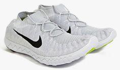 Nike Free Flyknit 3 Pure Platinum Black