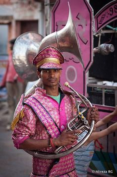 Indian horn player