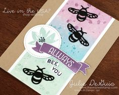www.thewaywestamp.com Always Bee You handmade card using Stampin' Up! sets #GDP075 #FMS276 #avantgarden #labeleralphabet #timeofyear #detaileddragonflythinlits #stampinup #handmadecards #diycrafts #thewaywestamp #juliedeguia