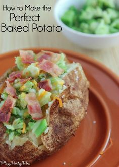 The perfect baked potato topped with steamed broccoli, cheese, and crispy bacon. #HowFreshStaysFresh #ad