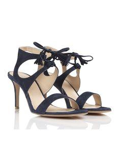 5f39e9a069ff Sandales à talons en daim Bleu by CAROLL Me Too Shoes