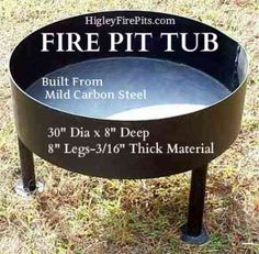 Steel Fire Pit Tubs