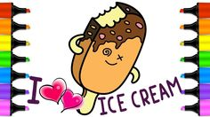 Coloring Pages Ice Cream Learn By Steps Drawing And Colors To Kids In This Video You Will How Step