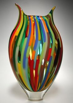 Art glass vases and vessels dance in the light, given form by the careful talent of today's finest American glass artists. Explore an incredible selection of art glass vases and vessels, each the result of an artist's unique vision. Glass Vessel, Mosaic Glass, Fused Glass, Stained Glass, Clear Glass, Vase Design, Art Of Glass, Wooden Vase, Hand Blown Glass