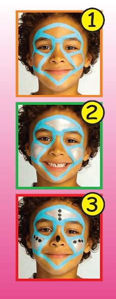ROBOT face painting for boy