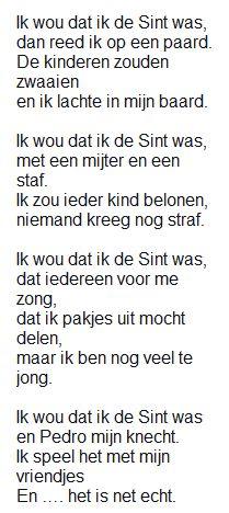 """""""Ik wou dat ík de Sint was"""" Abraham And Sarah, Dutch Quotes, Saint Nicholas, Poems, Lettering, Teaching, Nostalgia, Calligraphy, Letters"""