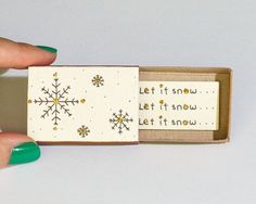 Christmas Card/ Let It Snow Christmas Card/ Sparkling por shop3xu