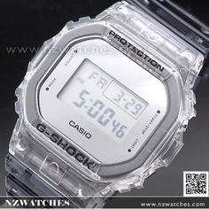 Casio G-Shock Semi-Transparent Metallic Mirror face Watch G Shock Watches, Casio G Shock, Semi Transparent, Metallic, Iphone, Mirror, Face, Clothes, Digital Clocks
